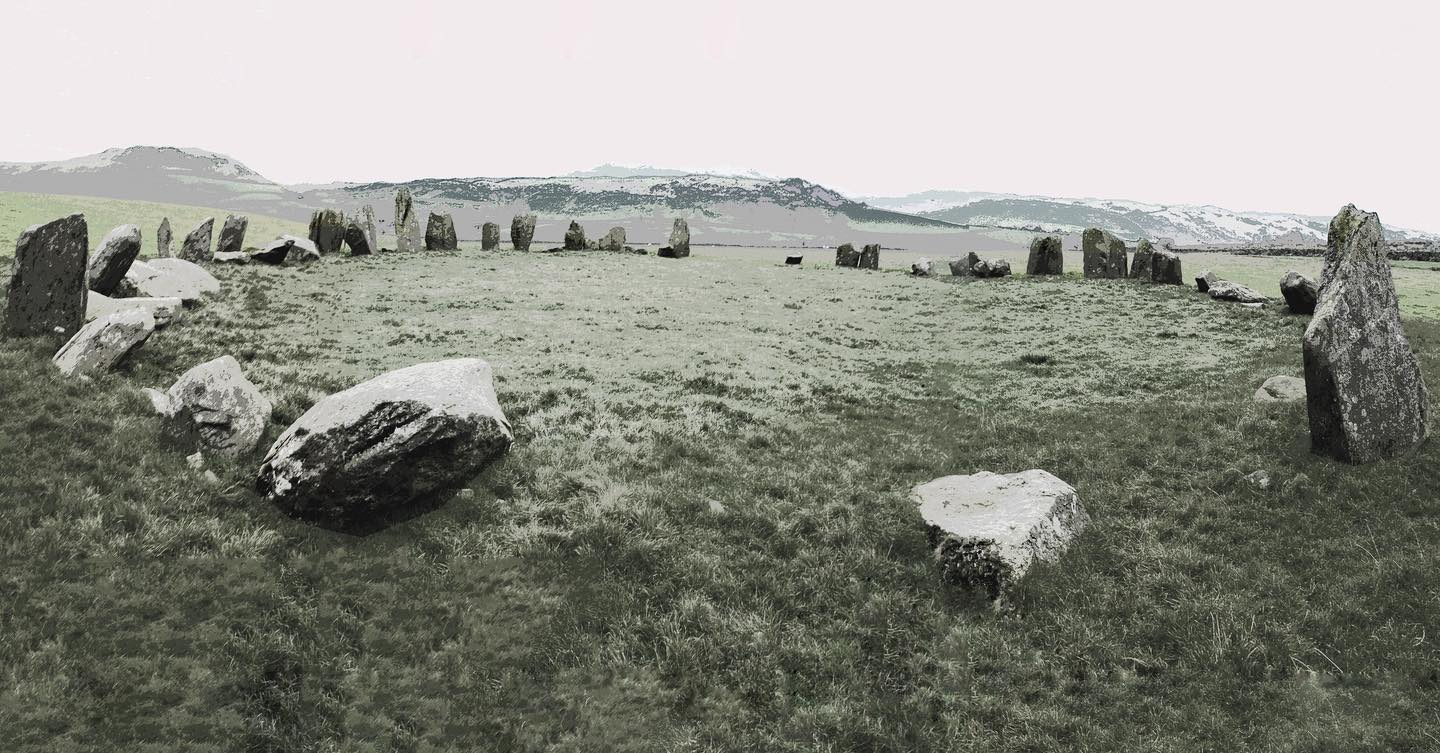 swinside stone circle. the stones used in its construction were porphyritic slate collected from the adjacent swinside fells, and are of the type that is known locally as 'grey cobbles'. the ring has a diameter of about 26.8m, and currently contains 55 stones, although when originally constructed there probably would have been more. it has been suggested that along with castlerigg and other cumbrian stone circles, that it has a close affinity with the kings stones circle in oxfordshire and may be by the same builders as part of a thriving axe trade. the lake district has been an important part of the axe industry since the neolithic and is based on outcrops of fine grained greenstone made into highly polished stone axes.  #swinside stone circle. the stones used in its construction were porphyritic slate collected from the adjacent swinside fells, and are of the type that is known locally as 'grey cobbles'. the ring has a diameter of about 26.8m, and currently contains 55 stones, although when originally constructed there probably would have been more. it has been suggested that along with castlerigg and other cumbrian stone circles, that it has a close affinity with the kings stones circle in oxfordshire and may be by the same builders as part of a thriving axe trade. the lake district has been an important source of stone axes since the beginning of the neolithic.  the langdale valley has outcrops of fine-grained greenstone that can be highly polished and produced highly valued stone axes that were traded throughout britain. it has been suggested that these stone circles provided the basis for their distribution. #axetrade #neolithic #stonecircles #megaliths #ancientstone #triblegathering #ancientceremony #swinside #longmeg #castlerigg #castleriggstonecircle #longmegandherdaughters #thekingsstone #cumbria #cumbrianfellsmore at montagecity.com axetrade #neolithic #stonecircles #megaliths #ancientstone #triblegathering #ancientceremony #swinside #longmeg #castlerigg 