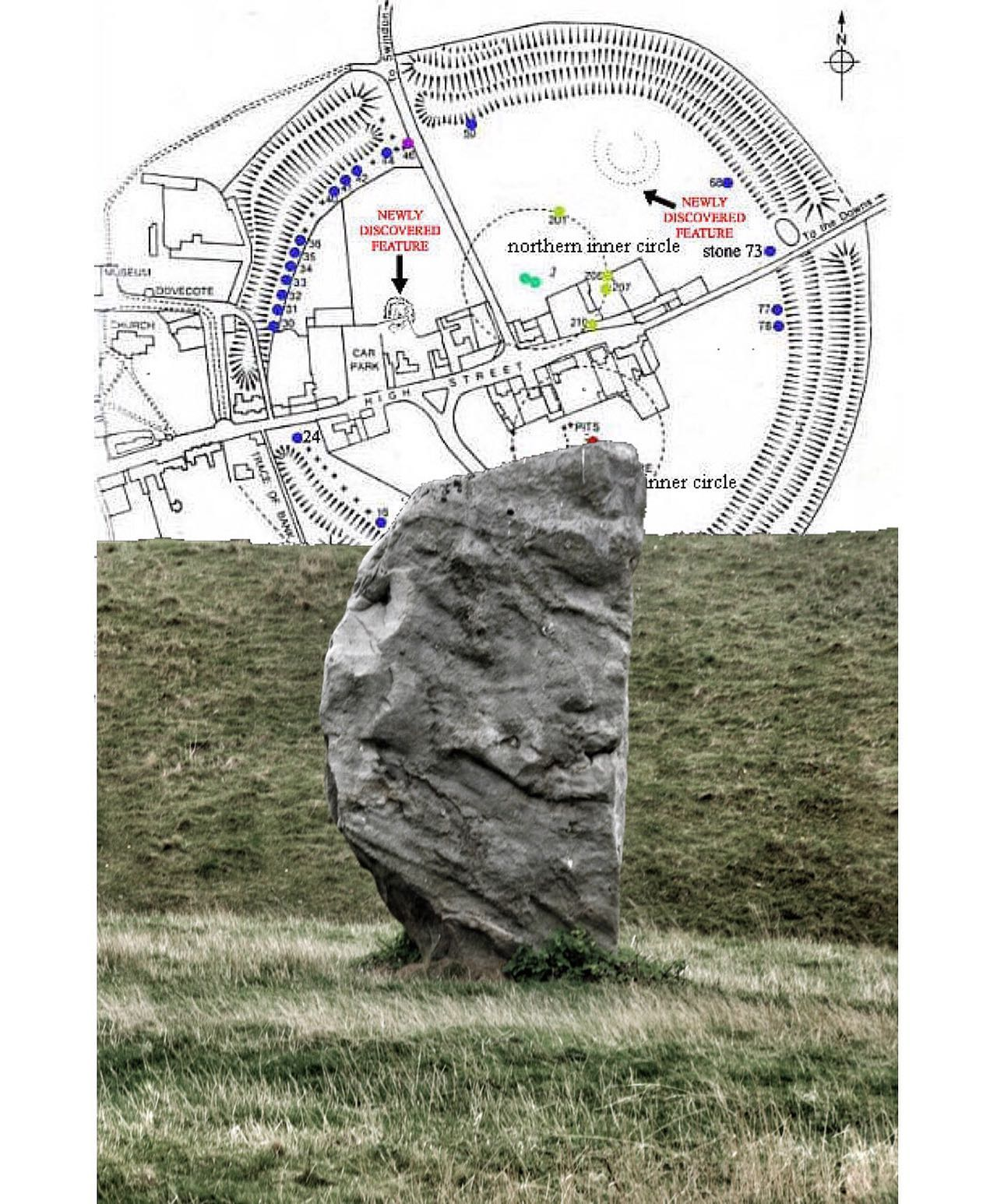 avebury stone. outer avebury stone circle. constructed image. looking out from inside the the great outer ring and set against the western inner face of the henge. participants in the original ceremonies as they passed though its two main avenues into the henge would be enclosed, cut off from the immediate world to concentrate on the rituals and the celestial bodies above. others sited on the bank tops would overlook the ceremony and in sight of the surrounding monuments and its avenues. these banks were sufficiently high enough to be intervisible with silbury hill, windmill hill, west kennet and south street longbarrows. ..#avebury #aveburystonecircle #sarsons #ancientarchitecture #anientceremony #ceremonialsite #aveburyavenue #silburyhill #windmillhill #megalithicsite #westkennetlongbarrow #megalith #southstreetbarrow #westkennetavenue #beckhamptonavenue #longbarrow #ancientwisdom #prehistory #archeology #constructedimage #montageconstruction..follow. goto montagecity.com